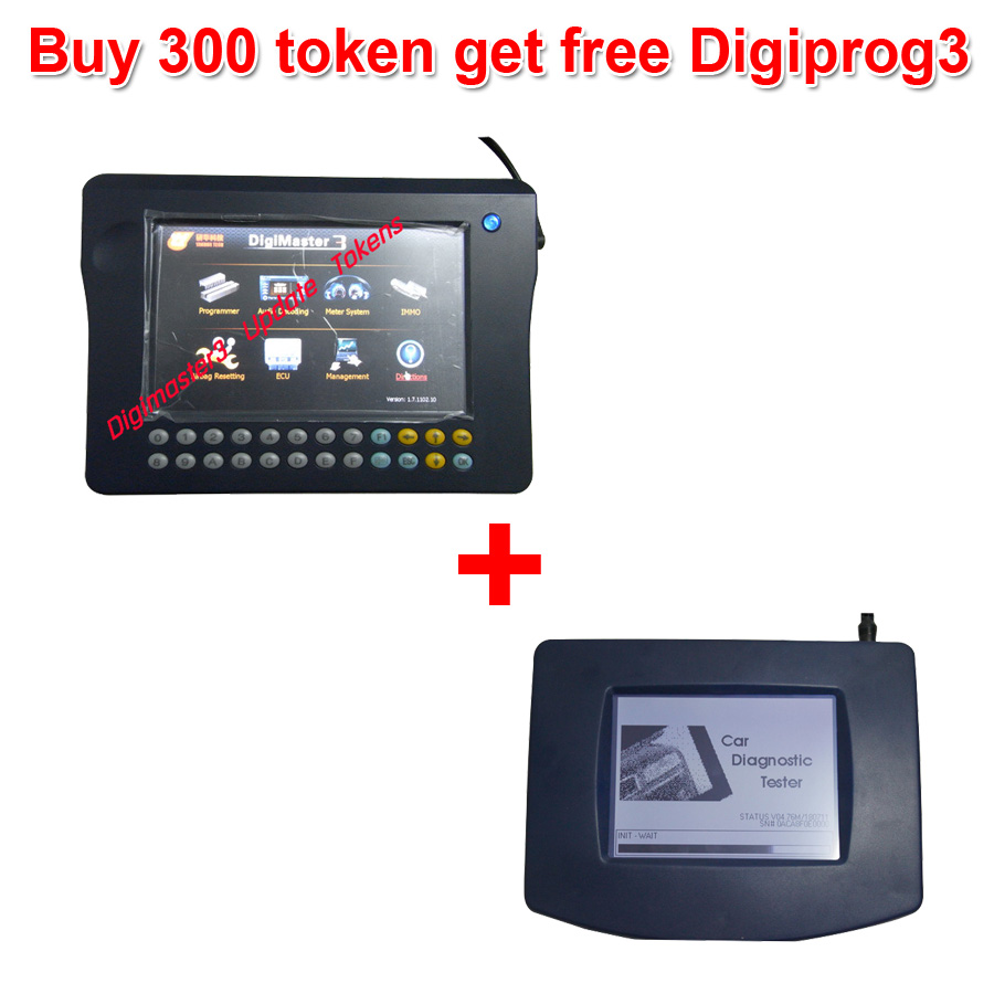 Buy 300 Tokens for Digimaster 3/CKM100/CKM200 Get Free Digiprog 3 Main unit and OBD Cable