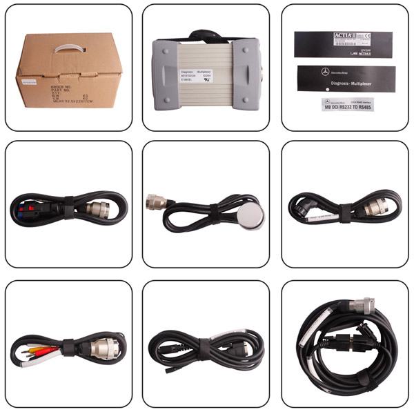 Mb Star C3 Pro with seven cable Fit all computer For BENZ Truck and Cars 2013.03